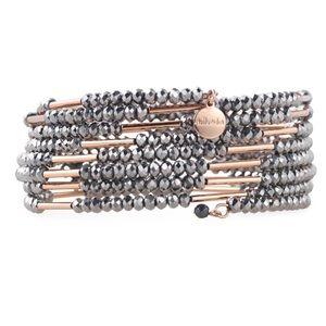 Stella & Dot Bardot beaded wrap cuff bracelet